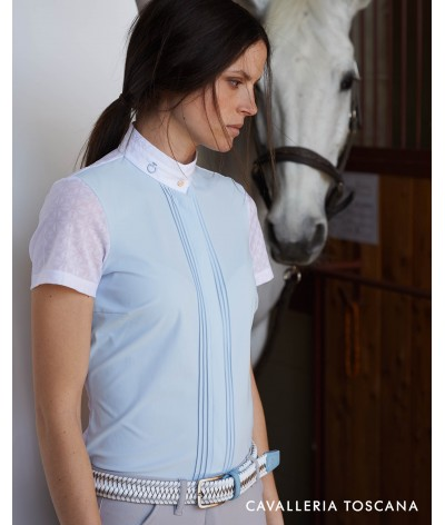 Cavalleria Toscana Transparant Jersey Elegant Competition S/S