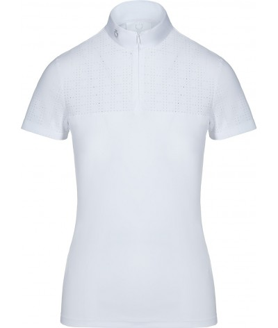 Cavalleria Toscana Square Perforated Zip S/S Competition Polo