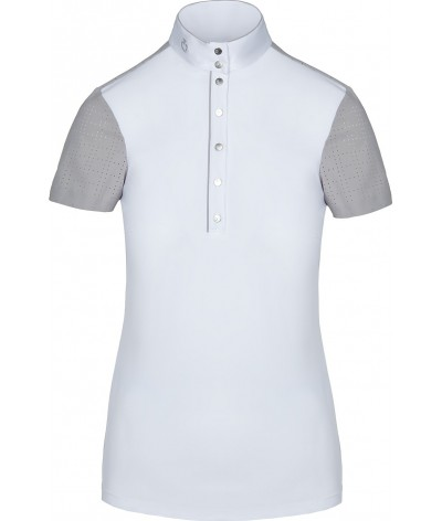 Cavalleria Toscana Perforated Competition Polo W/Piping S/S