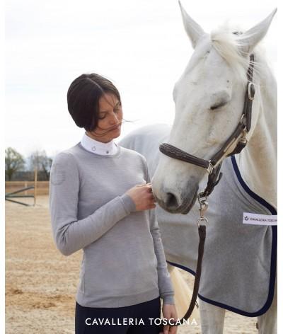 Cavalleria Toscana Jacquard CT Crew Neck Sweater