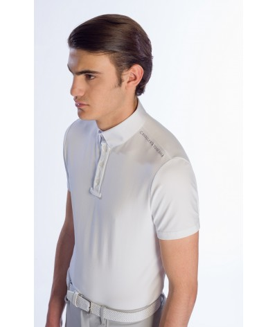 Cavalleria Toscana Tech Piquet Competition Polo w/Laser Cut