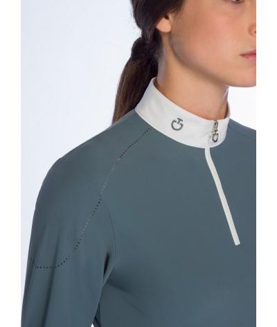 Cavalleria Toscana Mini CT Beaded Motif L/S Comeptition Shirt
