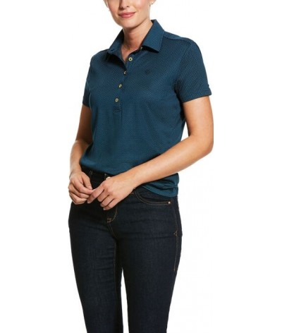 Ariat Women's Talent SS Polo Deep Petroleum