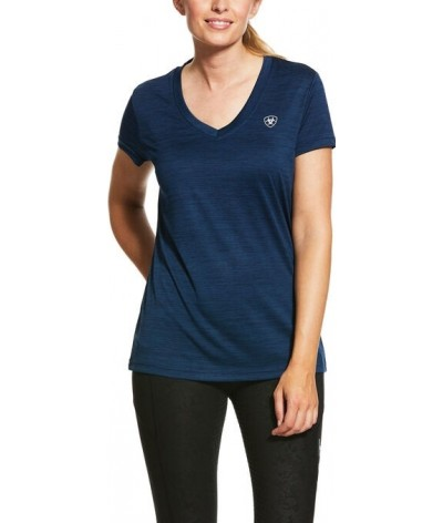 Ariat Women's Laguna SS Top Navy Heather