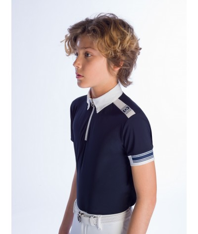 Cavalleria Toscana Jersey Competition Polo W'/Laser Cut Logo
