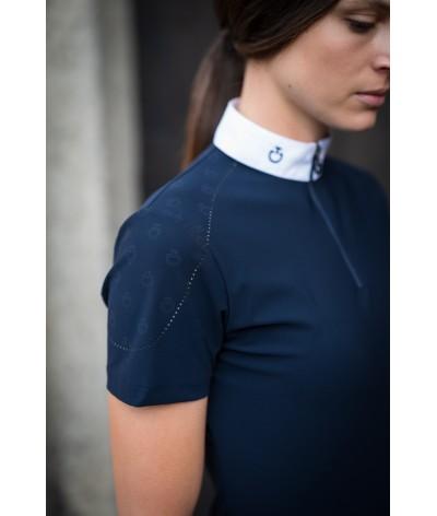 Cavalleria Toscana Mini CT Laser Beaded Motif S/S Competitoin Shirt
