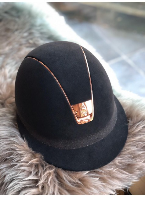 Samshield Cap Miss Shield Premium + Top Alcantara + Band Fabric Swarovski + Rose Goud