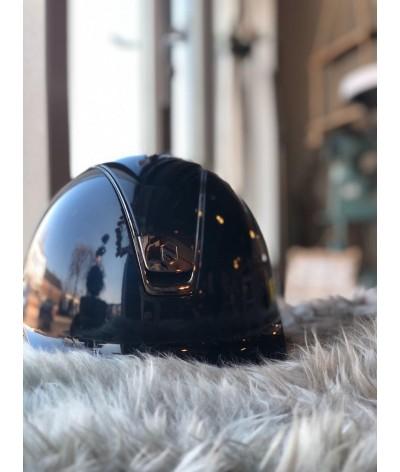 Samshield Helmet Glossy + Top Glossy + Black Chroom