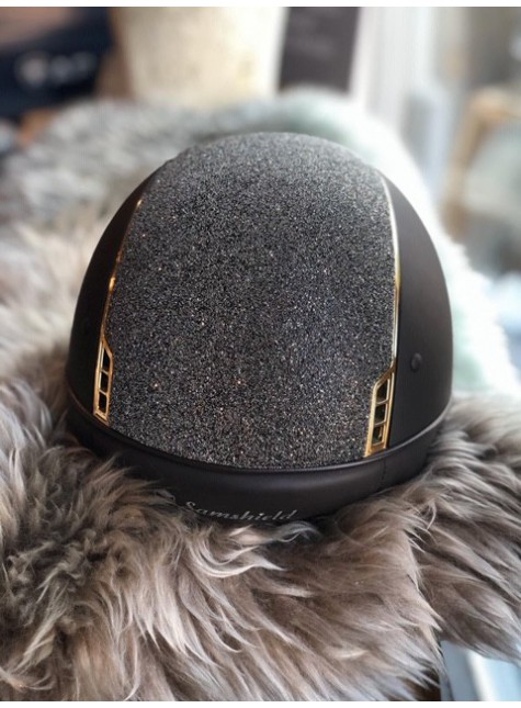 Samshield Cap Shadowmatt + Top Crystal Fabric Swarovski + Chroom Goud