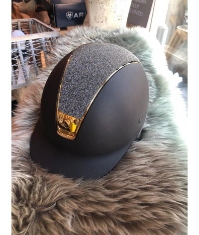 Samshield Cap Shadowmatt + Top Crystal Fabric Swarovski + Chroom Goud