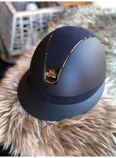 Samshield Helmet Shadowmatt + Top Alcantara + Chrome/5 Swarovski