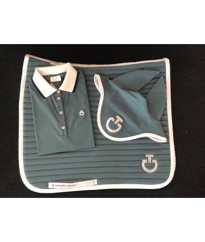 Cavalleria Toscana Rib Knit Banded Trainings S/S Polo