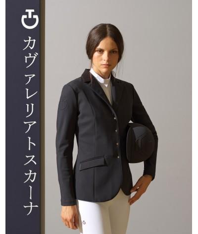 Cavalleria Toscana Women's Lichtweight Jersey Zip Riding jacket