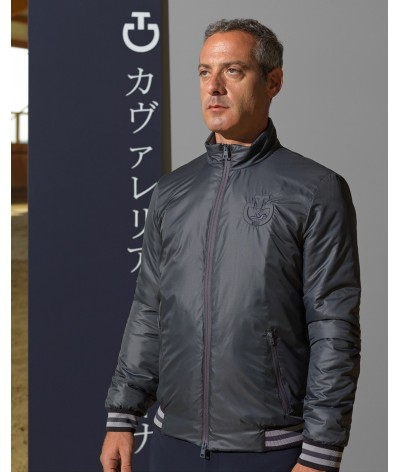 Cavalleria Toscana Men's Tokyo Nylon Zip Jacket