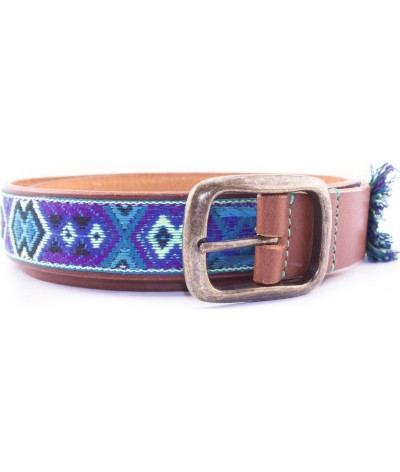 DWAM Boho Juan Leather Belt In Ibiza Style