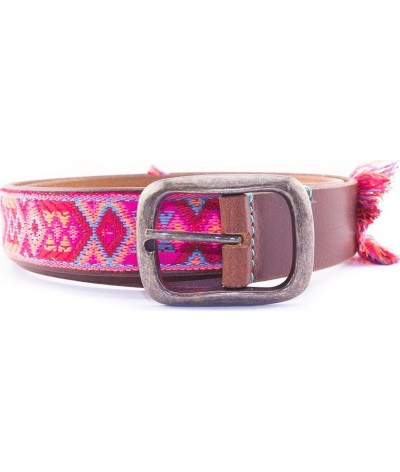 DWAM Boho Rosa Leather Belt In Ibiza Style