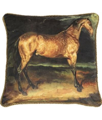 Mars & More Klassiek Fluweel Kussen Paard Bruin