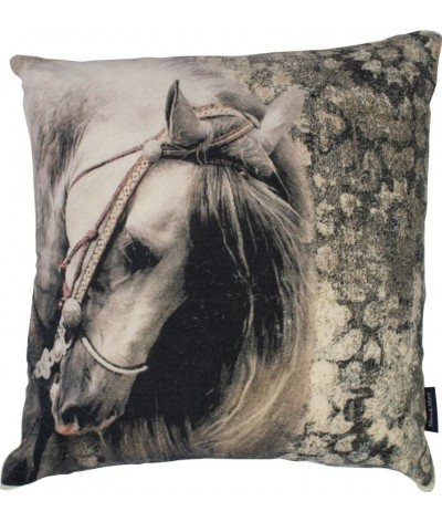 Mars & More Classic Velvet Cushion Horse Grey