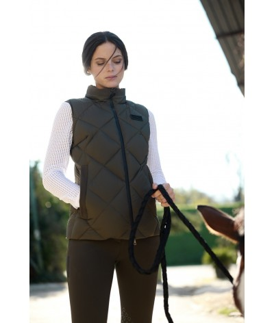 Nylon Hooded Vest W/Fleece...