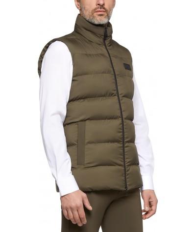 Nylon Hooded Vest W/Fleece...