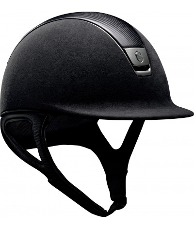 Samshield Helmet Premium Black + Top Leather + Chrome Black