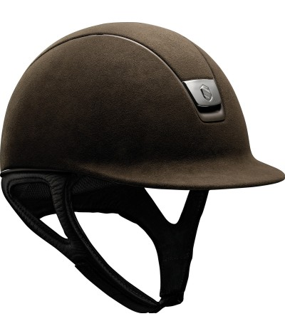 Samshield Helmet Premium Brown + Top Alcantara + Matt Bronze/Chrome Black