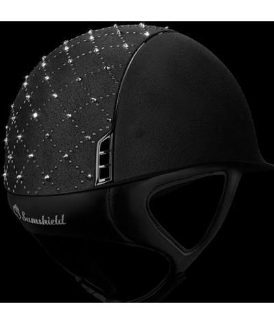 Samshield Cap Premium Zwart + Top Lozenge Swarovski + Chroom Zwart
