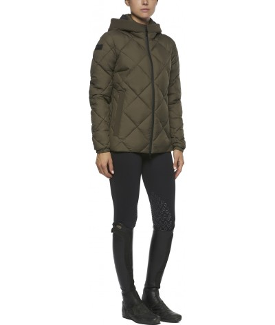 Quilted Nylon Hooded Puffer...
